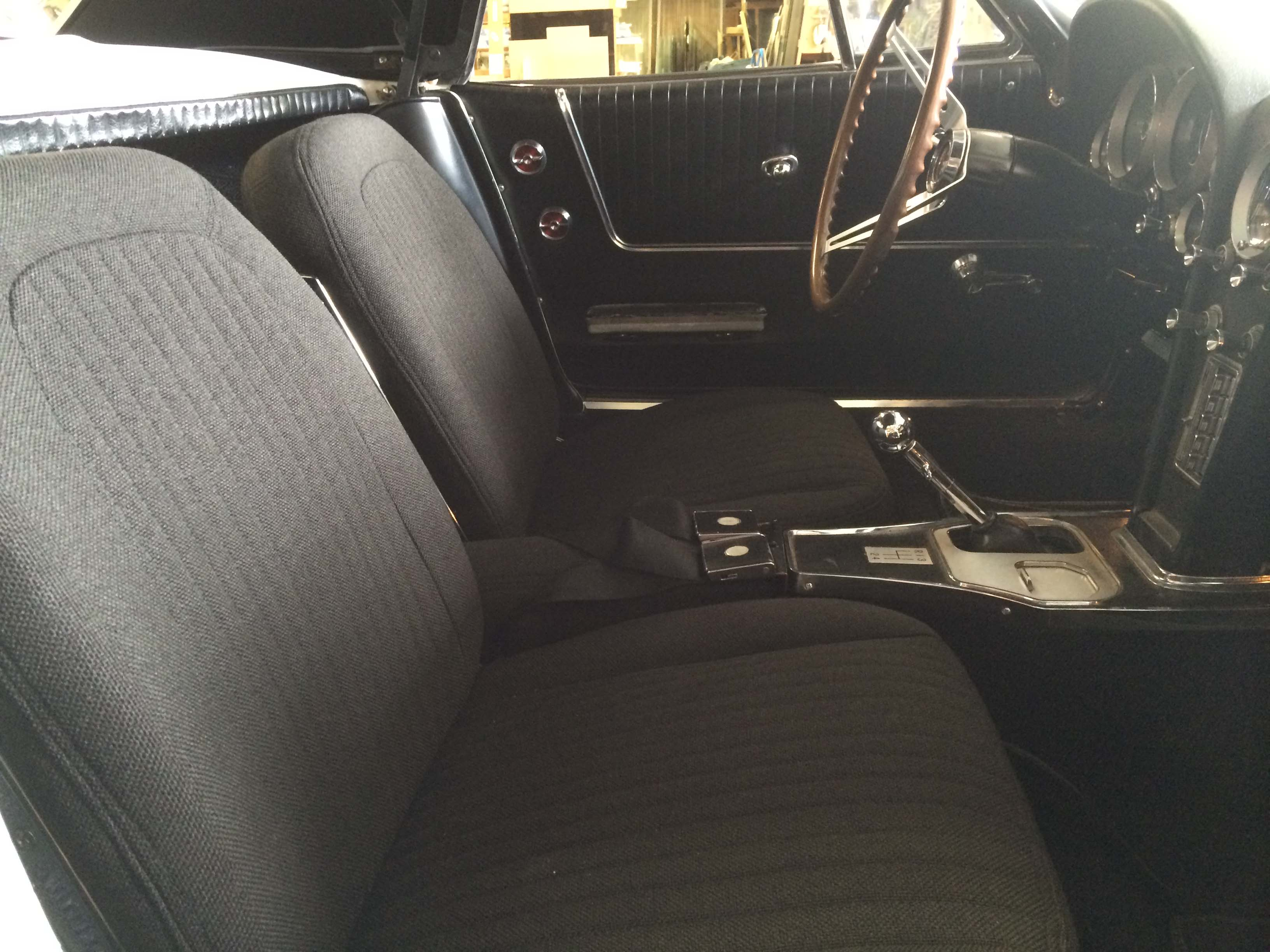 picture of car interior with amazing repair work on it