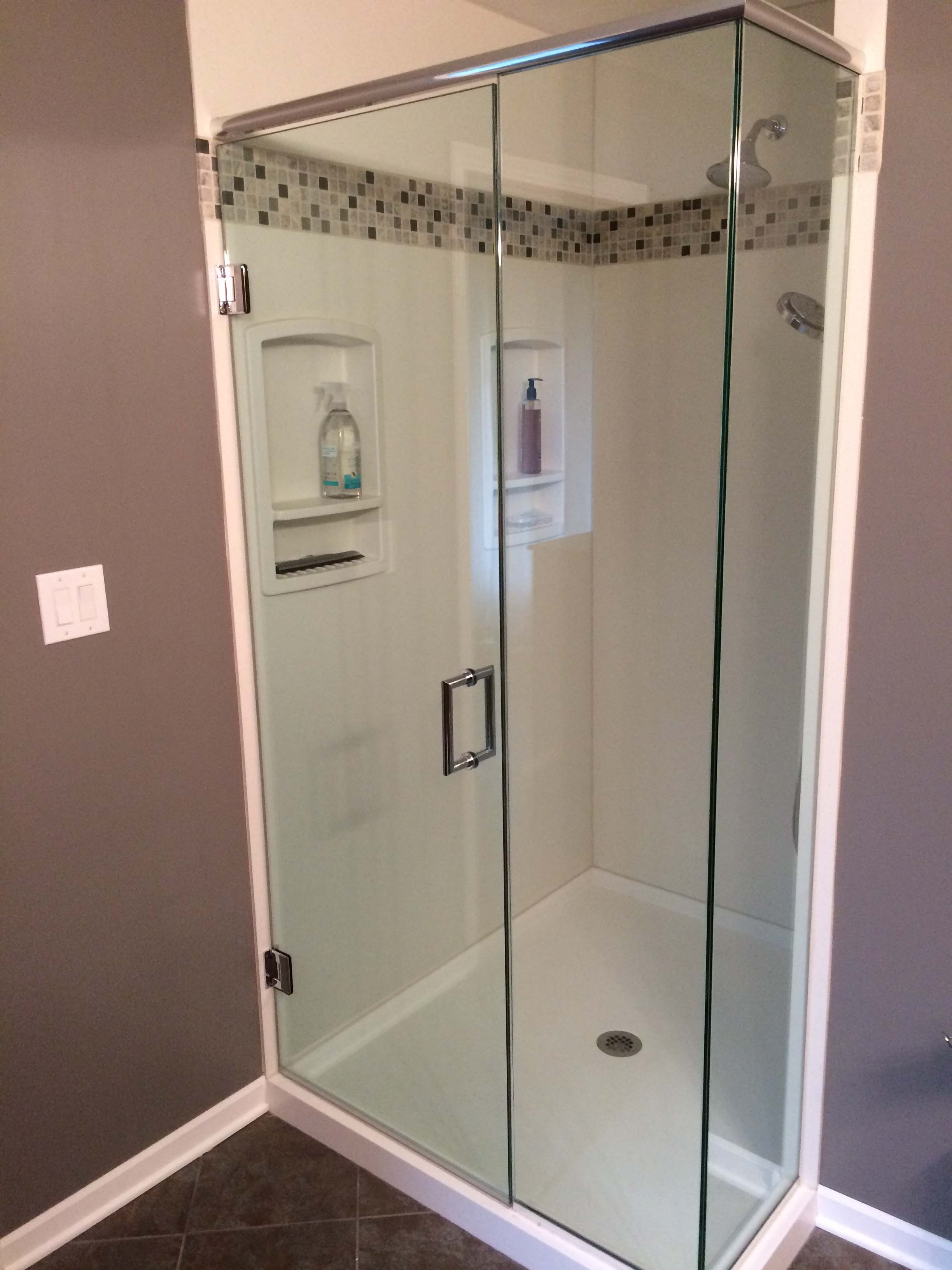 picture of a glass shower door