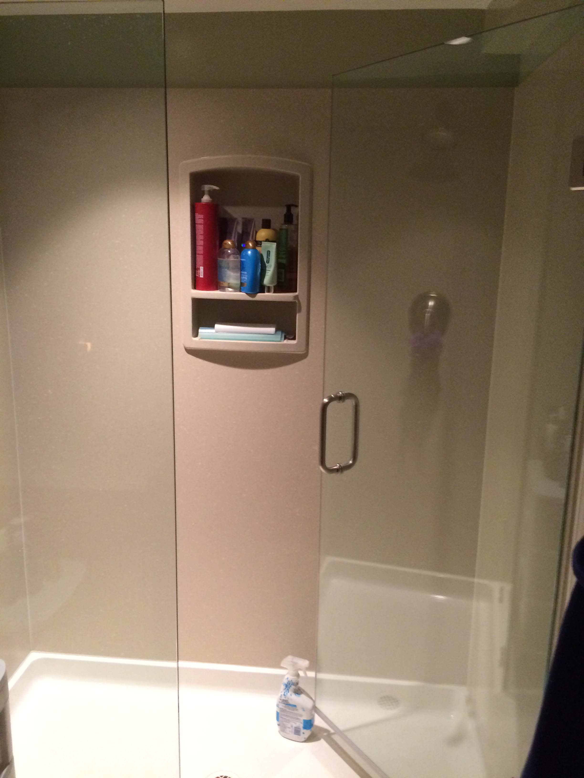 another picture of a glass shower door