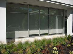 picture of a completed exterior commercial window